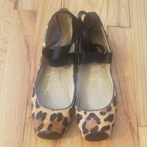 Jessica Simpson leopard ballet flats